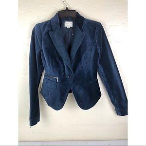 Hinge By Nordstrom Blue Velvet Blazer
